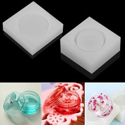 WXLAA 2PCS Silicon Resin Casting Storage Box Mould Jewellery Mould DIY Craft Making