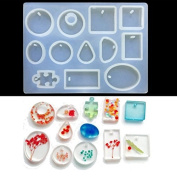 WXLAA Silicon Resin Casting Pendant Mould Jewellery Mould DIY Craft Making