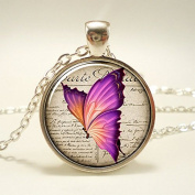 Butterfly Necklace, Vintage Style Woodland Jewellery