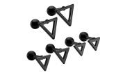 Stainless Steel Mens Stud Earring Black Stud Earrings for Men 3 pairs