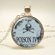 Poison Necklace, Spooky Halloween Jewellery, Esoteric Jewellery, Poison Ivy Pendant