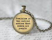 Feminism Necklace - Gifts for Feminists - Feminism Jewellery - Feminist Necklace - Women's Equality - Equality Necklace
