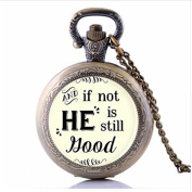 Fashion Jesus Jewellery Medium He Is Still Good Pocket Watch Necklace, Christian Necklace