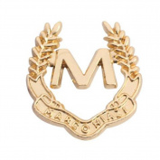 "Hosaire Brooch Pin Alphabet ""M"" Scarf Pin Rhinestones Breastpin for Wedding/Banquet/Bouquet Women Men"