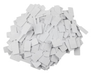 Honbay 200pcs Blank White Paper Price Tag Labels Jewellery Display Cards Ring Sticker Hangtags