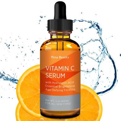 Vena Beauty Vitamin C Facial Serum Anti-Ageing Facial Serum with Hyaluronic Acid (White)