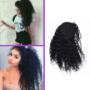 Jerry Curly Ponytail Hair Piece Clip ins Brazilian Virgin Hair Top Closure Ponytail