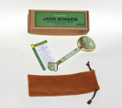 Good Vibez Jade Roller for Face Massage, Double Rollers, 100% Real Natural Jade, Anti Ageing Beauty Skincare Tool to Rejuvenate Facial Skin, Anti Wrinkle Slimming Tighten Cool Tone Puffy Face Eyes Neck