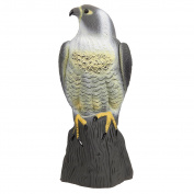 Hawk Decoy Statue - Bird Deterrent and Repellent - Fake Bird Scarecrow to Deter and Scare Birds, 6.9 x 41cm x 17cm , Assorted Colours