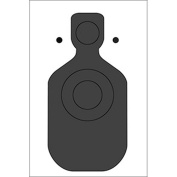 San Francisco (CA) PD Paper Target Paper target emphasises upper chest and head impact areas Ink