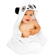 Premium Hooded Baby Towel | 100% Organic Bamboo | Cute Panda Design Great for Boys and Girls | Extra Soft and Thick for Infant, Toddler, Newborn and Kids use at Bath Time, Beach and Pool