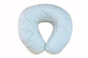 Extra-Soft Breastfeeding Baby Support Pillow with 100% Hypoallergenic Removable Bamboo Cover | Antibacterial Newborn Infant Feeding Cushion | Portable for Travel | Best Nursing Pillow for Boys & Girls
