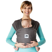 Baby K'tan BREEZE Baby Carrier, Charcoal, XX-Small