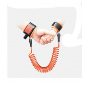 Anti Lost Safety Wrist Link - Harness Leash Strap Rope Hook and loop Wristband to Prevent Children and Kids from Losing