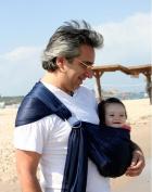 Baby Ring Sling Carrier,Adjustable Nylon Mesh Fabric Warp for Newborn,Dark Blue