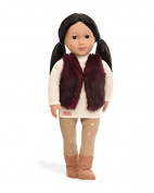 Our Generation Tamaya-Doll (N) with Red Fur Vest Toy, 46cm
