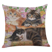 Inverlee Cute Cat Sofa Bed Home Decoration Festival Pillow Case Cushion Cover