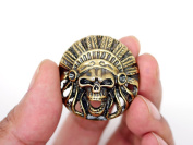 CRAFTMEmore 3.5cm Indian Head Skull Concho Screw Back Tribal Cheif Conchos Leathercraft Decorations Pack of 2