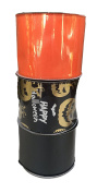Gold Jack-o-lantern Happy Halloween with Solid Orange and Solid Black Bundle of Three Halloween Themed Ribbons