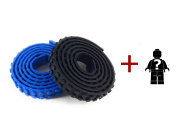 Strong Reusable Building Block Tape Compatible with Legos. 2 Rolls of Silicone Tape-1 Yard Each Plus a Mystery Mini Figure.