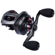 KastKing Speed Demon 9.3:1 Baitcasting Fishing Reel – World's Fastest Baitcaster – 12+1 Shielded Ball Bearings – Carbon Fibre Drag – Affordable - New for 2017!