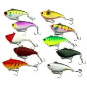xlpace 3D Eyes Diving VIBE Fishing Lures Bait Lipless Swimbait Crankbait 10g/6cm 10pcs