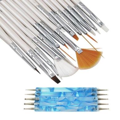 KaiCran 20PCS Nail Art Design Dotting Painting Drawing Polish Brush Pen Tool