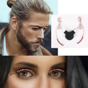 LED False Eyelashes Perfectly Fit For Party The First Choice Gift Of Halloween ,Waterproof & 280Hours Battery, Comes With Clip, Black+Red