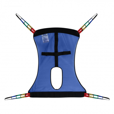 Zheeyi Full Body Patient Lift Sling, Mesh with Commode Cutout, Medium (Blue)