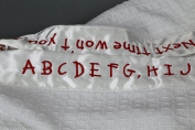 """""""Now I Know My ABC's"""" Nursery-Rhyme-Embroidered Blanket - Size 80cm x 80cm"""