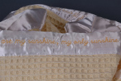 """""""You Are My Sunshine"""" Lullaby-Embroidered Baby Blanket - Size 50cm x 50cm"""