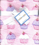 Cupcakes Plush Girls Baby Blanket Pink