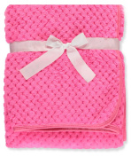 Coney Isle Plush Baby Blanket - fuchsia, one size