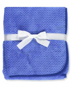 Coney Isle Plush Baby Blanket - royal blue, one size
