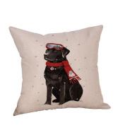 Usstore Pillow Case Christmas Dog Cover Sofa Home Decor Pillowcase