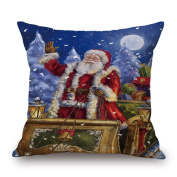 Usstore Pillow Case Christmas Printing Dyeing Cover Home Decor Pillowcase