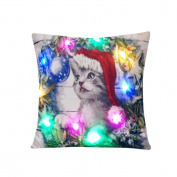 Usstore Pillow Case Christmas Flashing Print Bed Home Decor Cushion Cover