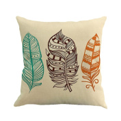 Usstore Pillow Case Geometry Print Dyeing Bed Home Decor Cushion Cover