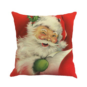 Usstore Pillow Case Christmas Print Dyeing Bed Home Decor Cushion Cover