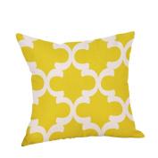 Pillow Case Mustard Yellow Geometric Fall Autumn Cushion Cover