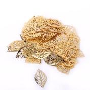 TMERY Approx. 100pcs Pierced Tree Leaves DIY Crafts