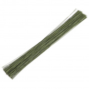 200 Pieces Floral Wire - Stem Wire - Florist Wire, 41cm in Length, 18 ga., Dark Green