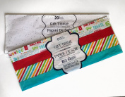 Gift Wrap Bag Tissue Paper White Foil Sequin Sparkle 20 Sheets 50cm x 50cm ,multi-colour birthday Tissue paper