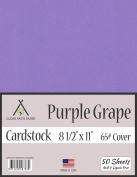 Purple Grape Cardstock - 22cm x 28cm - 29kg Cover - 50 Sheets