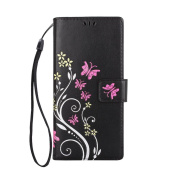 for Samsung Galaxy Note 8 Case,HP95(TM) Fashion Flower Ultra Slim Layered Leather Flip Cover Women Wallet Case for Samsung Galaxy Note 8