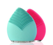 (BLUE) Silicone USB Rechargeable Waterproof Face Cleansing Brush .FIRST GENERATION ANION SILICONE FACIAL MASSAGER.