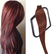 Mario Hair Tape in Extensions Human Hair Extensions Silky Straight Skin Weft Human Remy Real Hair