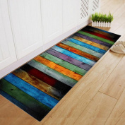 Sikye Home Decor Rag Stripe Dining Room Shaggy Soft Area Rug Bedroom Rectangle Floor Mat 60180CM