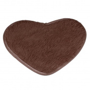 Sikye Indoor Area Rug Anti-Skid Fluffy Rug Home Mordern Design Floor Seat Mat for Bedroom Heart Shape