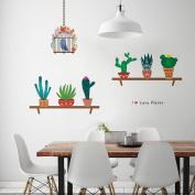 ZooartZooarts Cartoon Cactus Bird Cage wall stickers Decals Decals Kids Nursery Decor Mural